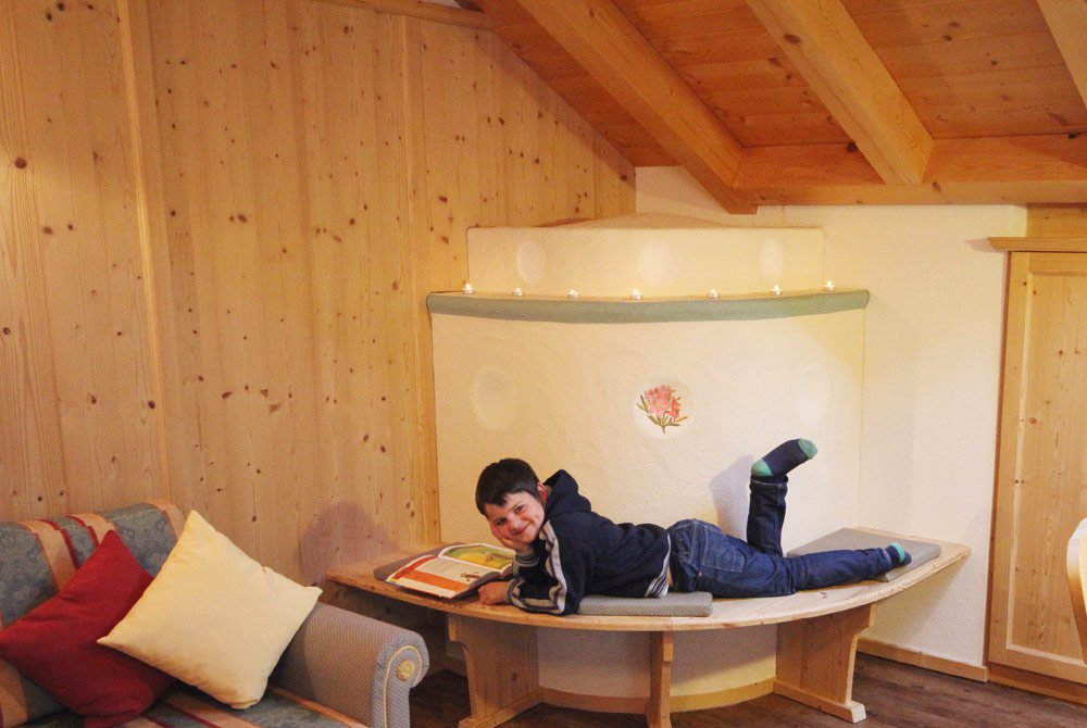 Atmosfera di massimo comfort nella casa clima in legno