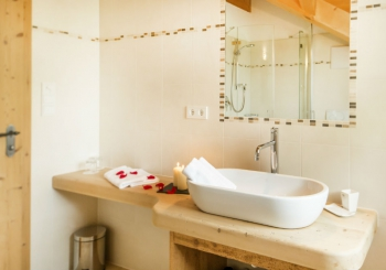 Badezimmer-Edelweiß